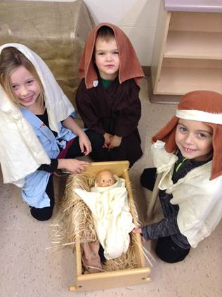 Acting Out the Nativity during play in FDK