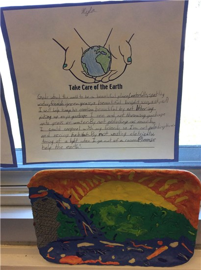 Earth Day Writing and Art Sample 1