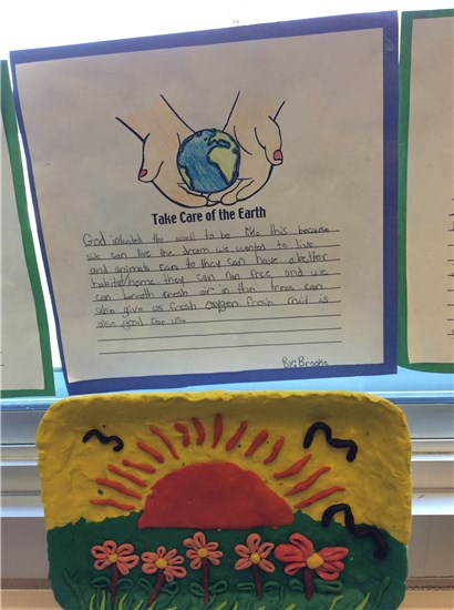 Earth Day Writing and Art Sample 2