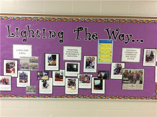 Lighting the Way Bulletin Board display