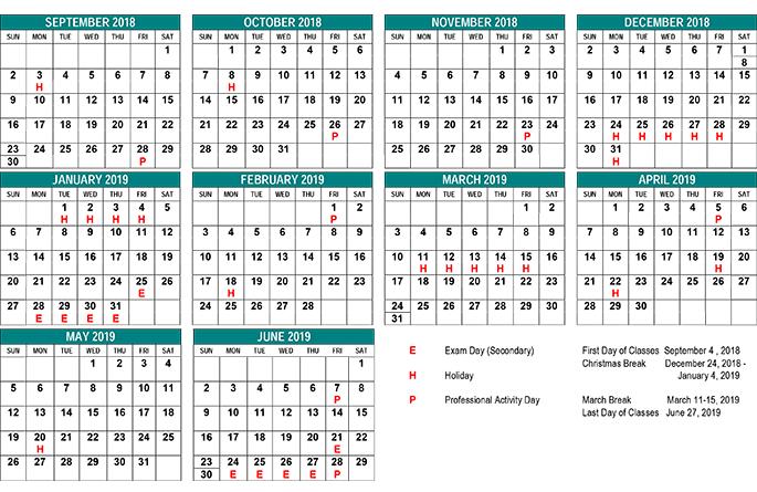St Clair County School Calendar 2019 School Year Calendar   St. Clair CDS Board