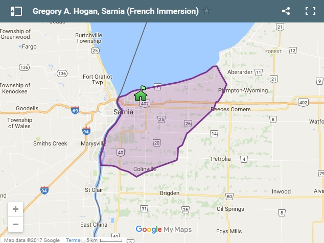 Sarnia French Immersion Boundary