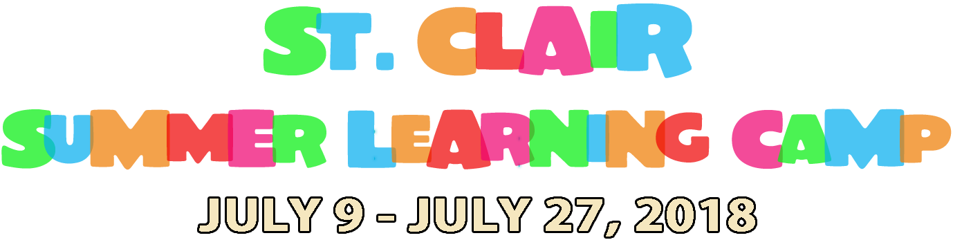 Summer Learning Camp July 9-27, 2018