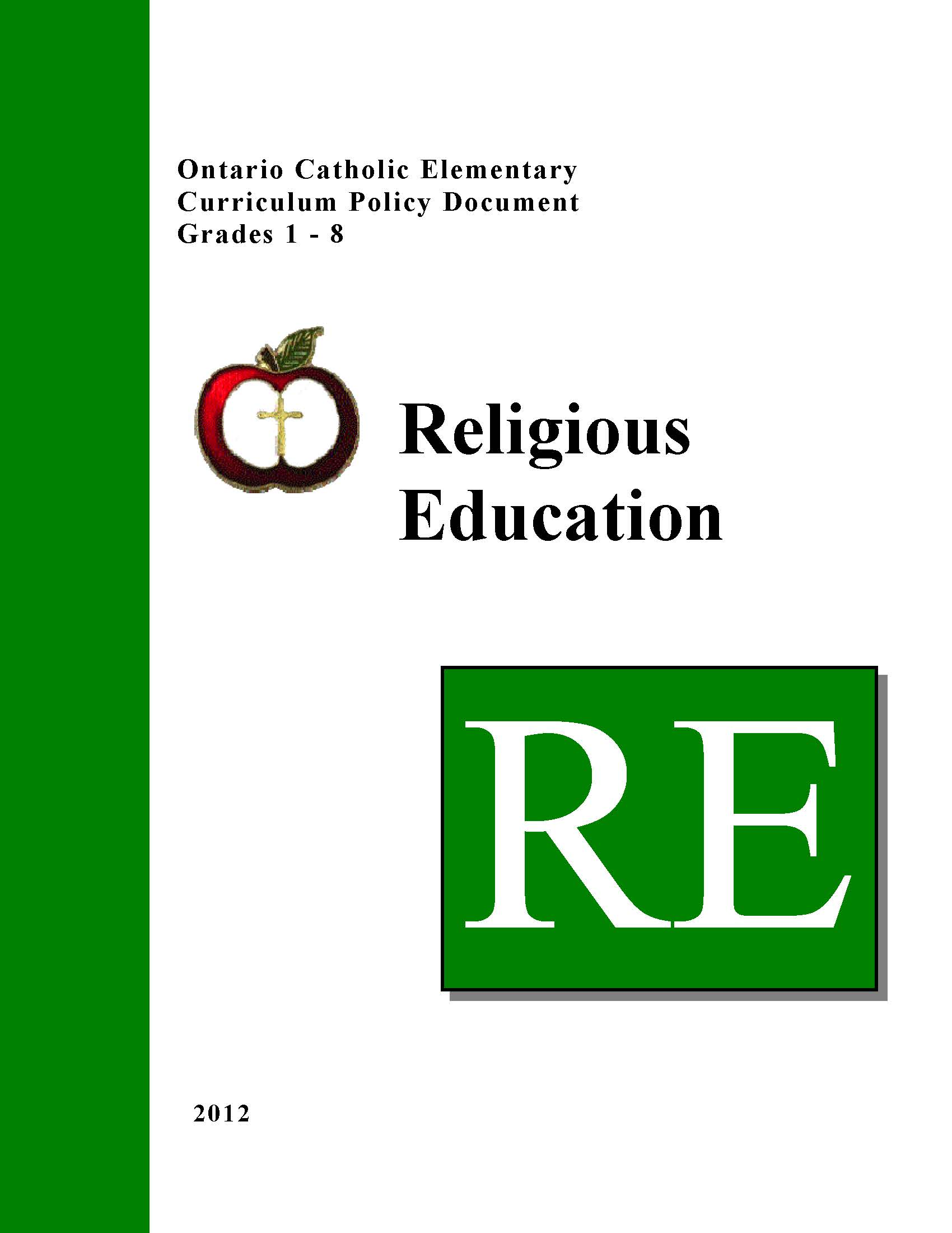 Elementary Religious Ed Policy Link