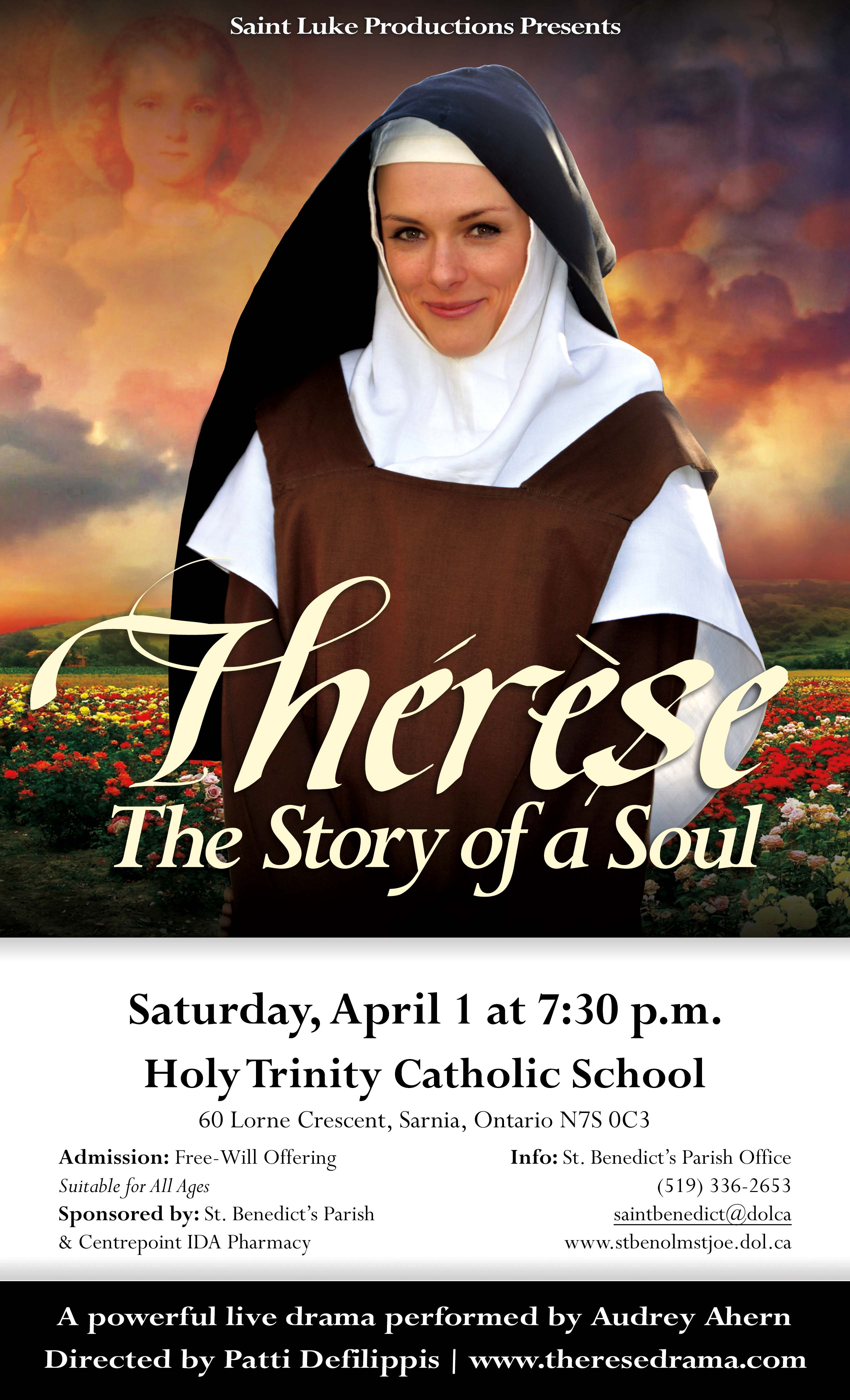 Poster for St. Therese Show