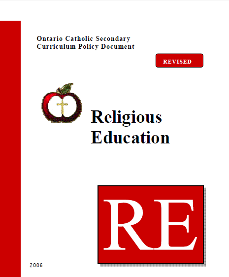 Secondary Religious Ed Policy Link