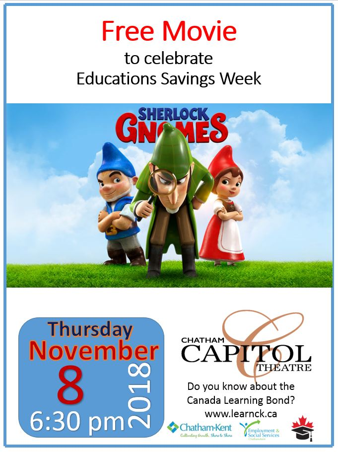 Free Movie to Celebrate Education Savings Week Capitol Theatre November 8 6pm