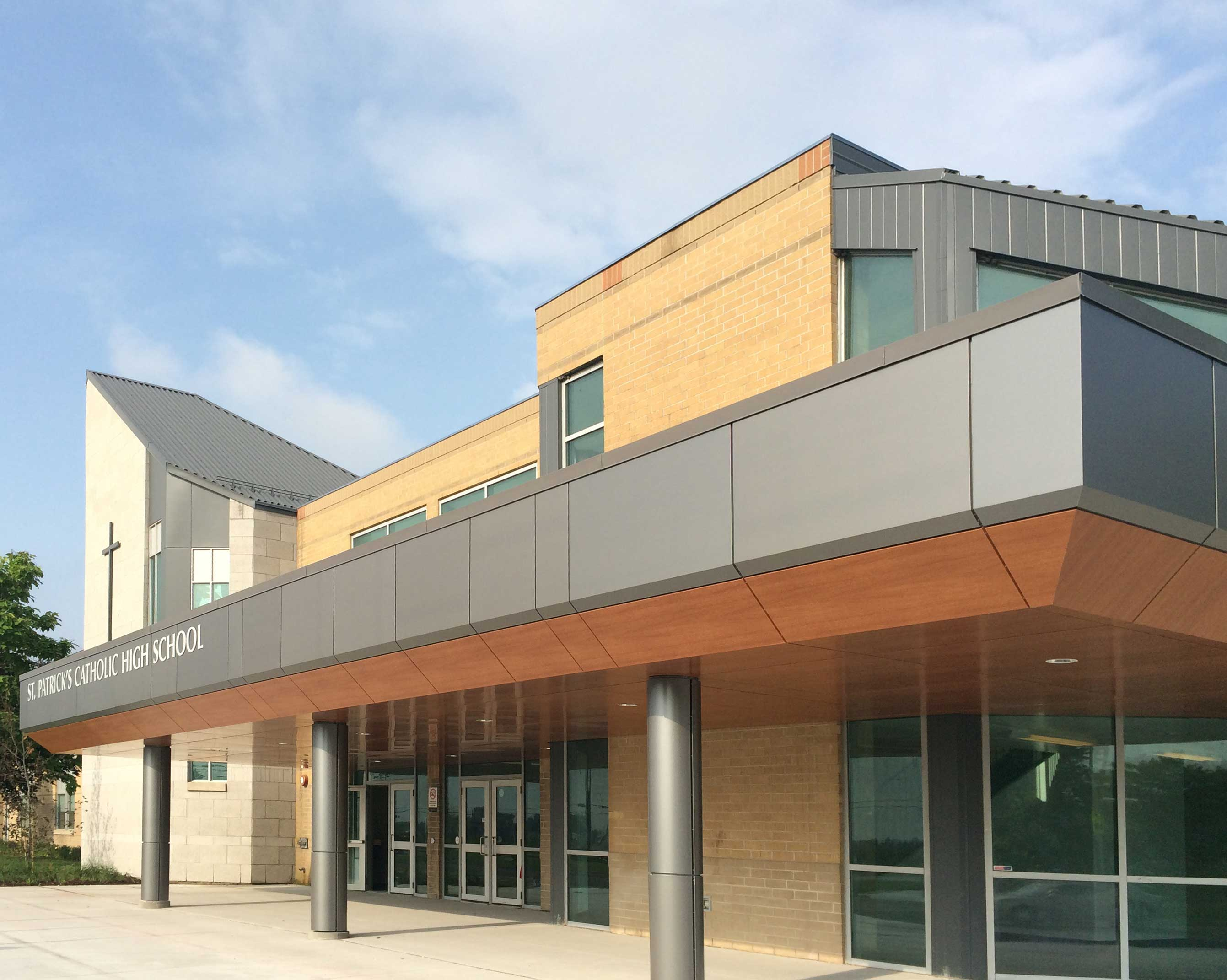 North Entrance View of Renovated St Patrick's Catholic High School