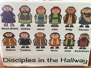 Disciples in the Hallway UCC Image