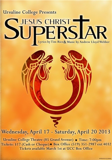 jesus christ superstar ucc theatre